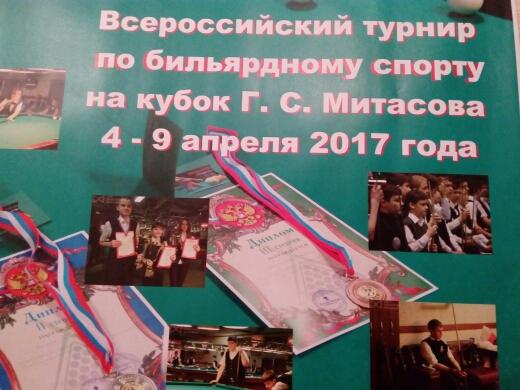 соревнований на Кубок Митасова 2017